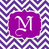 Monogram Wallpapers Maker - Create your own Chevron Initials Backgrounds!