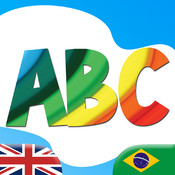 Learn Portuguese ABC for Kids - Fun Educational Vocabulary Lessons, Test Quizzes and Play Games with audio and flash cards for Baby, Pre-K, Toddlers, Preschool and Kindergarten Small Children