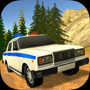 Police Chasing - Russian Country Road 3D smashy road