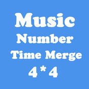 Number Merge 4X4 - Merging Number Tiles And Playing With Piano Music
