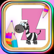 Magic paint ABC: learning game for children to learn the alphabet letters and to color the alphabet