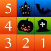Numbers Solitaire Halloween Edition - easy-to-play card puzzle game that uses numbers. point numbers