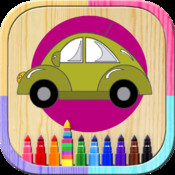 Paint car magic: book to color cars and cars for boys and girls to paint cars with your finger