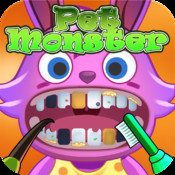 Pet Monster Dentist Kids Game - Rescue Cute Pet Monster`s Teeth In A Race Against The Clock!