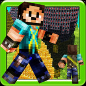 Pixelman Block World in minecraft style