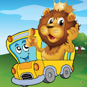 Animal Car Games for Kids Free - Play Jigsaw Puzzles and Paint Race car, Air Plane, Truck & Boat with Funny Lion, Bear & Cat - for Preschool Kids and Toddler kids online puzzles