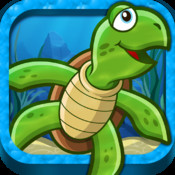 Tappy Turtle - The FREE 1 or 2 Player Full Featured Flappy Underwater Physics Race Game player full featured