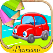 Cars for painting and coloring with magic marker