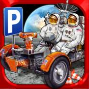 3D Space Race Parking Simulator - Real Moon Truck Park Mission Car Gravity Sim Racing Games