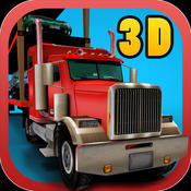 3D Car Transporter Truck Simulator - Real parking and trucker simulation game