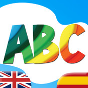 Learn Spanish ABC for Kids - Fun Educational Vocabulary Lessons, Test Quizzes and Play Games with audio and flash cards for Baby, Pre-K, Toddlers, Preschool and Kindergarten Small Children