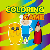 Coloring Game for Finn and Jake (Adventure Time)