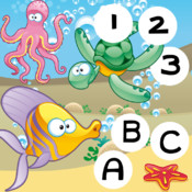 123 & ABC Marine School: Free Games For Kids! Learn Left+Right, Memorize, Count & Spell Animals! Cool-Math Kids-Game For Free