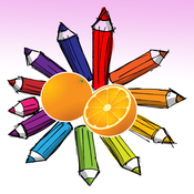 Fruits Coloring Book - digital drawing and paint for kids coloring