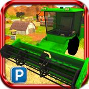 3D Farm Harvester Parking Simulator PRO harvester