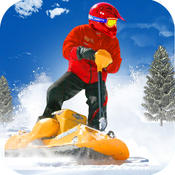 Snow Powerboard Racing ( 3D Speed Sports Power board stunts racing offroad game on Fast ice road tracks with real ragdoll physics ) racing road