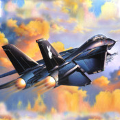 Air Combat Over Valley - Jet Fighter`s Mission to Save Your Nation