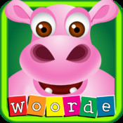 First Afrikaans words with Phonics: Educational game for children with Purple Hippo