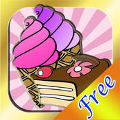 Ice Cream Shop and Bakery Coloring Book - FREE Art Maker App for Children and Preschoolers