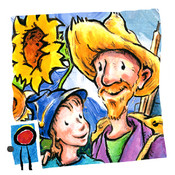 Van Gogh and the Sunflowers: encourage creativity and teach your children art history in this interactive book with text and paintings by Laurence Anholt (iPhone version by Auryn Apps)