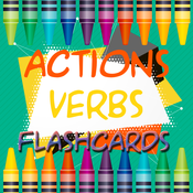 Actions Verbs Flashcards - coloring pages for kids actions