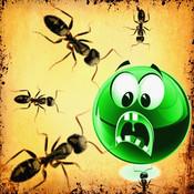 Bitten red ants