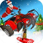 ATV Santa Ski Racing