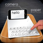 Paper Keyboard: Type on a real piece of paper paper art