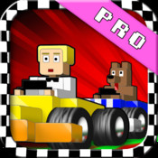 Block And Speed Racing PRO - A Super Fast Blocky Style Go Kart Game
