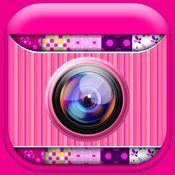 Cute Pink Photo Collage Maker: Adorable photo editor for girls with lots of photo frames, background color themes and photo filters photo