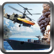 Naval Helicopter War - Ruthless battleground set against fast flying aerial helicopters and bombarding panzer tanks