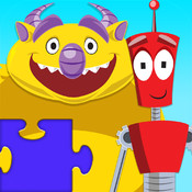 Monster Vs Robot Puzzle - Animated Kids Jigsaw Puzzles with Monsters and Robots - By Apps Kids Love, Inc! kids online puzzles