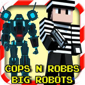 Cops N Robbers - Block Robots FPS Mini Survival N Multiplayer Shooting 3D Game with skin exporter for minecraft