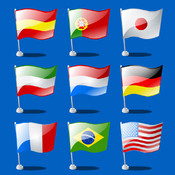 World Flags and Fruits Memo Card Game for Kids: Train Your Mind memory swapping