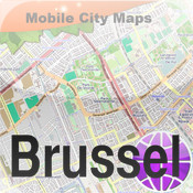 Brussel/Bruxelles Street Map