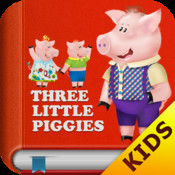 Kids Academy • The Three Little Pigs HD - Interactive bedtime story book with fun puzzle games and learning activities. Best educational app for Baby, Toddlers and Preschool children.