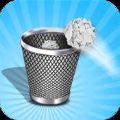 Paper Trash Champ - Toss Paper to Bin paper art