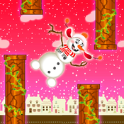 Flappy Snowman - Tap To Fly
