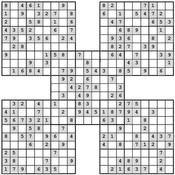 Samurai Sudoku Multiboard
