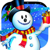 Frozen Snowman Winter Snow Fall - Flying through the Sky Free Game