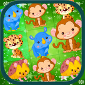Cute Animals Tap Match Puzzle HD Game Free