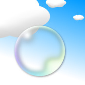 Fly a Bubble! Swipe sensitively to avoid clouds and fly a bubble to universe!