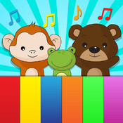 Animal sounds kids piano - Toddler loves touch to play sound and record animals voices or hear nursery rhymes songs on baby piano