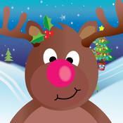 Santa`s Sleigh Ride christmas stars