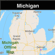 Michigan Offline Map & Navigation & POI & Travel Guide & Wikipedia with Real Time Traffic Cameras