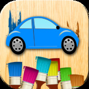 Cars coloring. Cars games for children. Games of finger paint. Coloring book for boys and girls