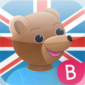 Learn English with Little Brown Bear : a kids app with educational games, songs and activities to learn first English words.