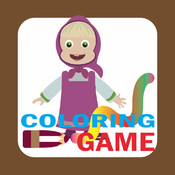 Coloring Book for Masha and the Bear