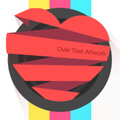 Over Text Artwork - Free Photo Editor of Text On Photo, Caption Editor and Text Quote for Instagram