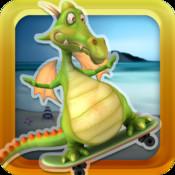A Flying Dragon World Skateboard Racing Game - Free Version
